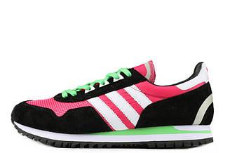Оригинальные кроссовки женские Adidas Originals ZX400 Hyper Pink Black White Lime Green