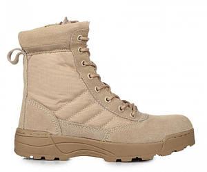 Оригинальные мужские армейские ботинки Original S.W.A.T Classic 9 inch Side Zip 119402 Sand - берцы, бежевые