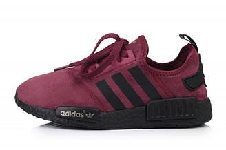 Оригинальные кроссовки женские Adidas NMD Runner Suede Dark Red Адидас NMD