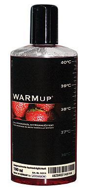 Съедобное массажное масло для оральных ласк WARMup Клубника, 150 мл