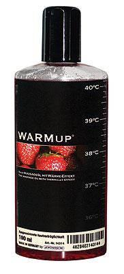 Съедобное массажное масло для оральных ласк WARMup Клубника, 150 мл , фото 2
