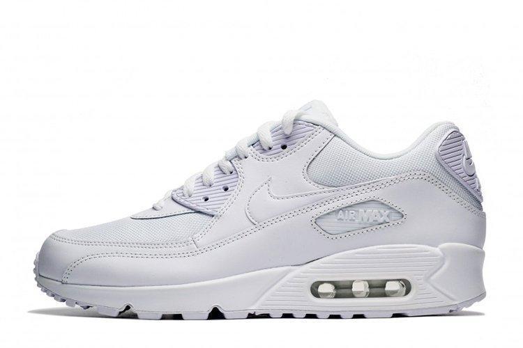 af72243a Кроссовки женские Nike Air Max 90 Essential Triple White найк аир макс 90