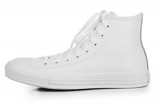 Мужские кеды Converse High Leather White конверс ол стар белые