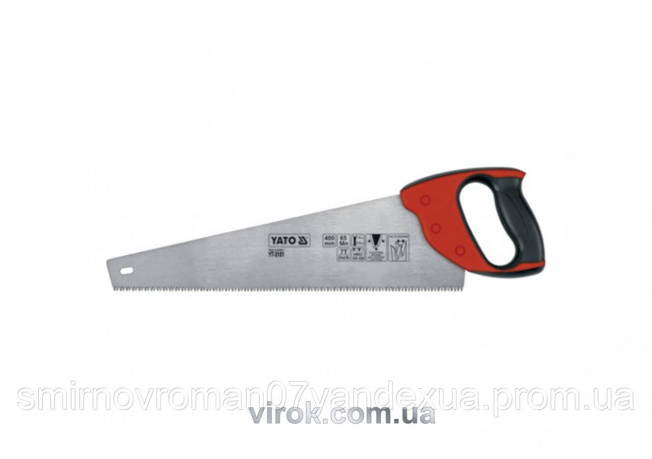 Ножовка по дереву YATO 400 мм 7TPI
