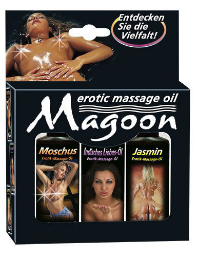 Набор для массажа MAGOON EROTIC MASSAGE, 3 х 50 мл