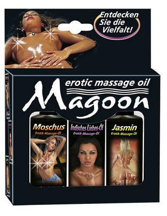 Набор для массажа MAGOON EROTIC MASSAGE, 3 х 50 мл , фото 2