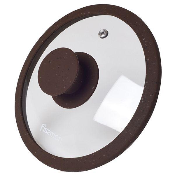 Крышка Fissman Arcades 16 см Темно-коричневая (9966)