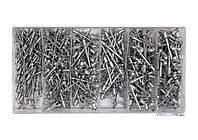 Заклепки алюминиевые YATO Ø=2.4, 3.2, 4, 4.8 мм х 6.4 мм 400 шт, фото 1