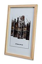 Рамка 20х20 из дерева - Сосна светлая 1,5 см - со стеклом