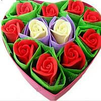Подарочный набор 《11 роз в сердце》