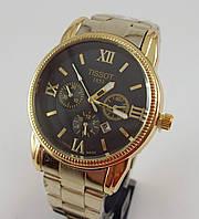 Мужские наручные часы Tissot 1853 золото с черным циферблатом