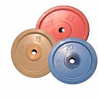 Диск обрезиненный цветной 2,5 - 25 кг Динамо