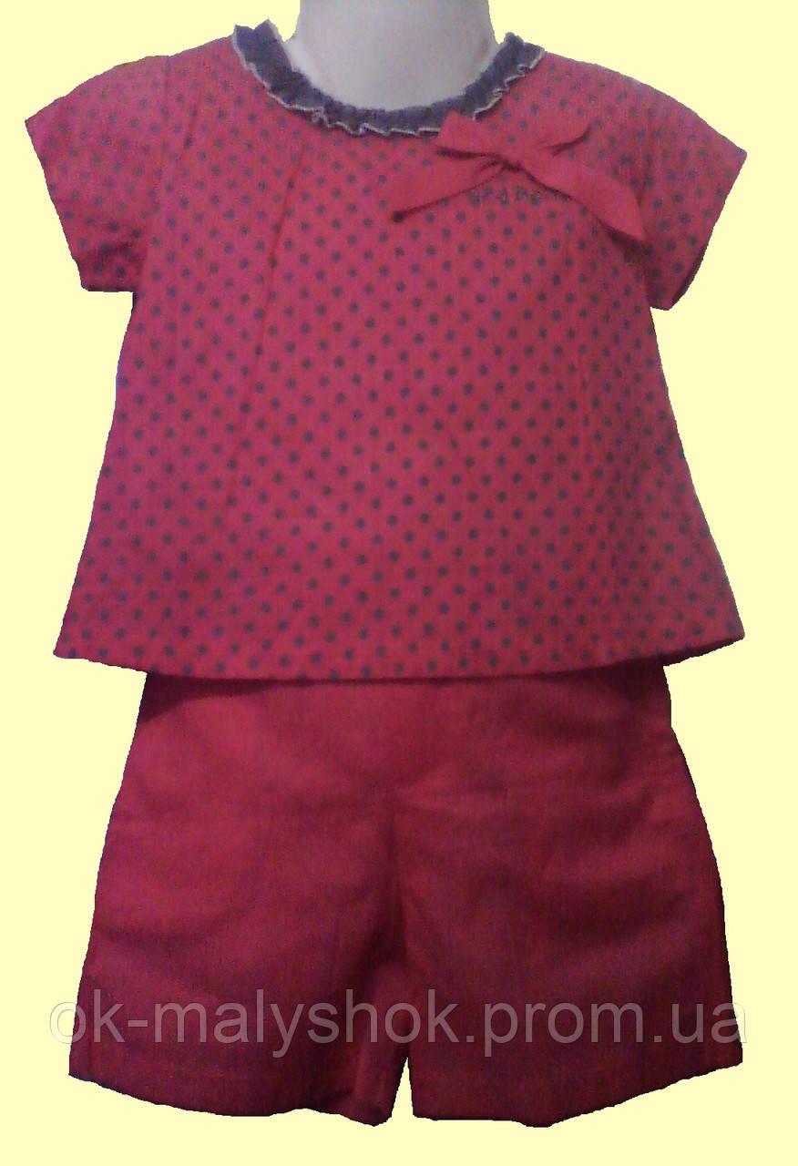 Блуза и шортики, для девочки, малиновые, р. 98 см (3-4 года) - ОК МалышОК! магазин детской одежды в Киеве