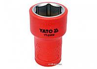 """Шестигранна Головка торцева діелектрична YATO 3/8"""" М18 х 47/30 мм VDE до 1000 В, фото 1"""