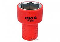 """Шестигранна Головка торцева діелектрична YATO 3/8"""" М22 х 47/30 мм VDE до 1000 В, фото 1"""