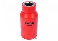 """Шестигранна Головка торцева діелектрична YATO 1/2"""" М11 х 55/38 мм VDE до 1000 В, фото 1"""