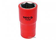 """Головка торцевая шестигранная диэлектрическая YATO 1/2"""" М19 х 55/38 мм VDE до 1000 В, фото 1"""