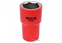 """Головка торцевая шестигранная диэлектрическая YATO 1/2"""" М21 х 55/38 мм VDE до 1000 В, фото 1"""
