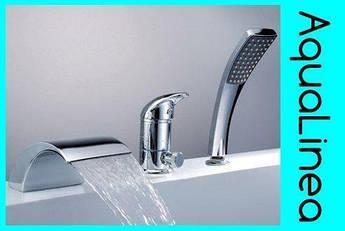 Смеситель для ванны хром водопад
