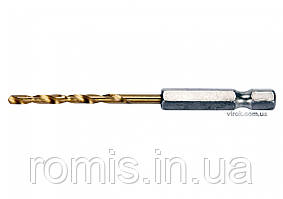 "Сверло по металлу с шестигранным хвостовиком 1/4"" YATO HSS-TiN 3.2 х 85 мм"
