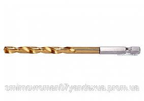 "Сверло по металлу с шестигранным хвостовиком 1/4"" YATO HSS-TiN 6 х 113 мм"