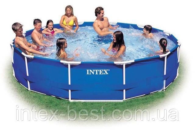 Intex 28210 - каркасный бассейн Metal Frame 366x76 см