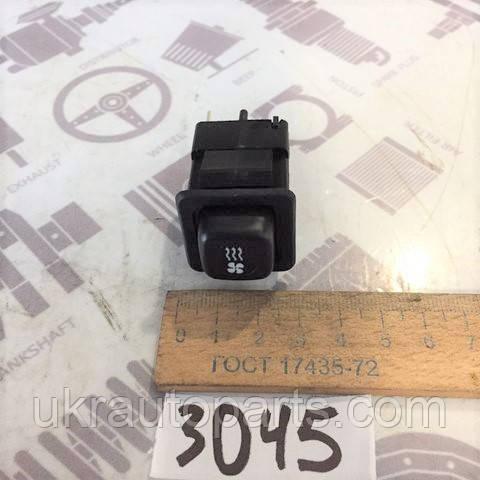 Выключатель отопителя ГАЗ 3307 ГАЗЕЛЬ (12В) (4 контакта) (АВАР) Кнопка вентилятора Кнопка печки (3832.3710-02.15)