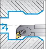 Схема обработки резцом S25S-MDUNR15