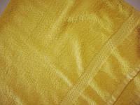 Полотенце махровое Жёлтое 50*90