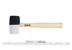 Молоток гумовий YATO 2-шаровий Ø= 63 мм з дерев. ручкою, m= 780 г, l= 340 мм [6/36]