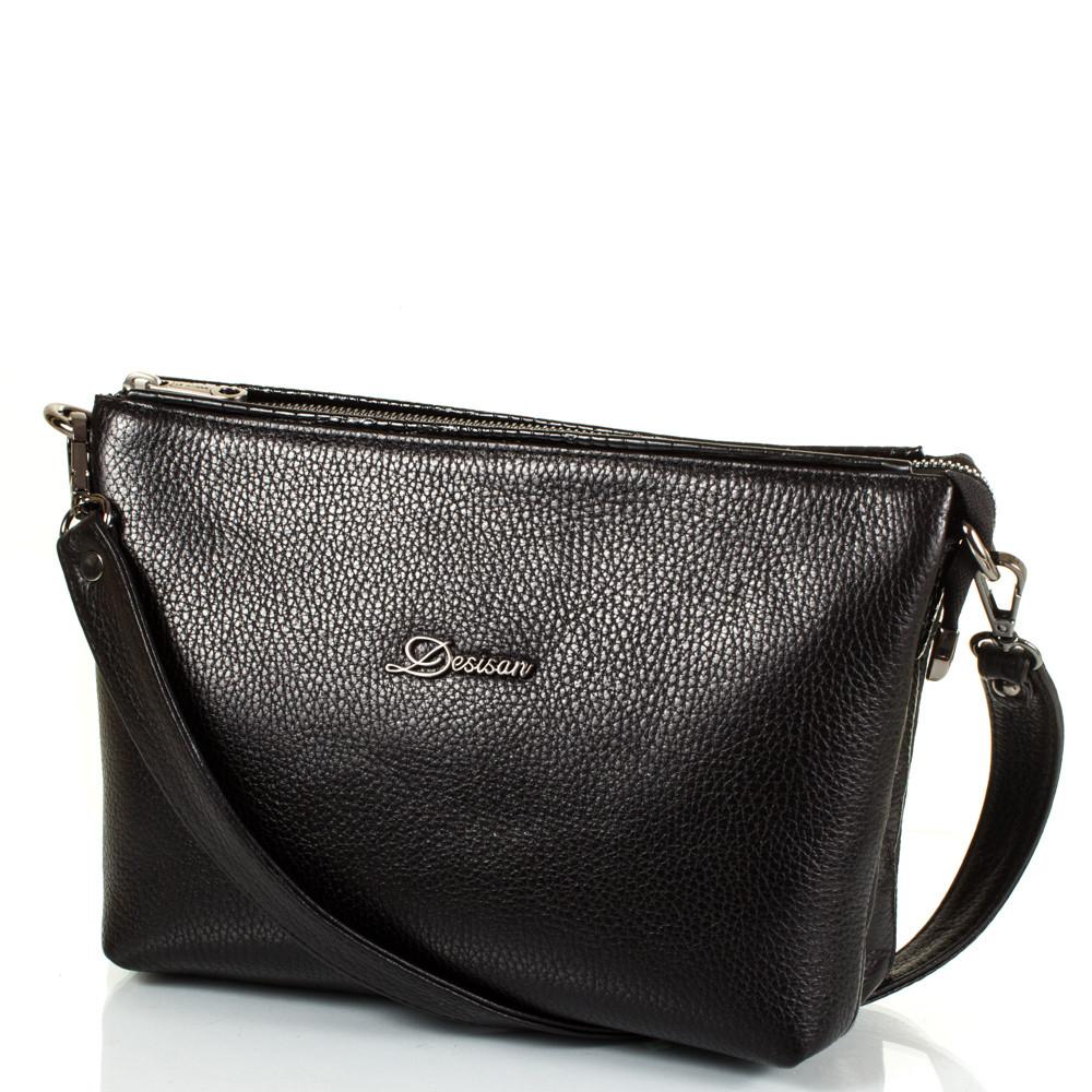 8b98652cf959 Женская кожаная сумка-клатч DESISAN Черная (SHI3012-011) - ГИГАНТО Маркет в