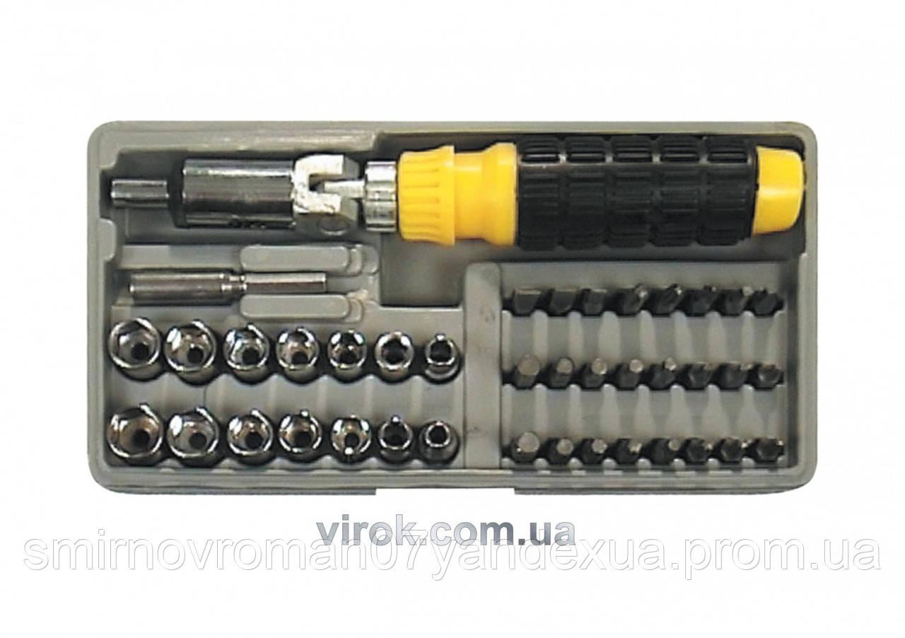 Отвертка-держатель шарнирная VOREL с насадками 41 шт