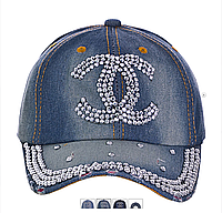 """Кепка женская джинсовая """"Chanel"""""""