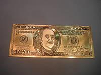 Золотая пластина 100$