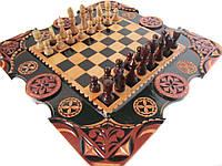 """Купить шахматы + нарды + шашки ручной работы """" Шахматный Карлик"""""""