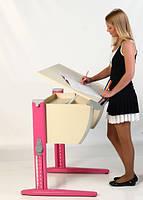 Стол СУТ.14 + Стул СУТ.01 клен/розовый (пластик)