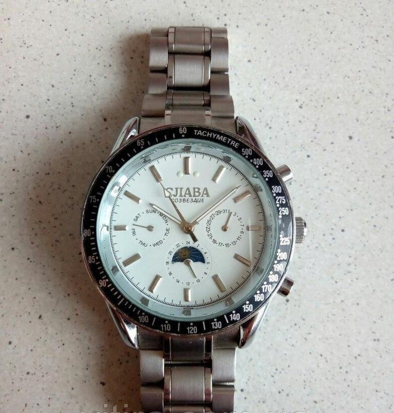 Серебряные мужские механические часы