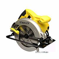 Пила дискова ручна STANLEY; Р= 1600 Вт, диск Ø= 185/16 мм, кут нахилу- 0-45°, глиб. різу 62-46 мм