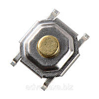 Тактильная кнопка 5*5*1.5 мм, микропереключатель SMT 4-контактный