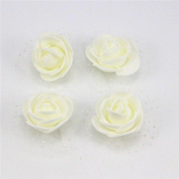 Бутон розы из фоамирана, диаметр 3-3,5 см БЕЛЫЙ (500 шт в упаковке)