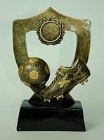 Статуэтка - Футбольный Кубок - Щит с бутсой и мячом, золото