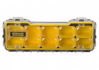 """Органайзер 1/3 мілкий з прозорою кришкою Stanley """"Fatmax Pro"""" 8 лотків 43 х 15 х 6.4 см"""