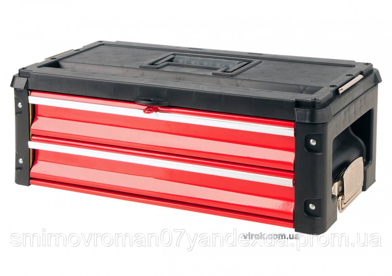 Ящик-секція для інструментів до валізи YT-09101 з 2-ма висувними шухлядами 390х215х60 мм