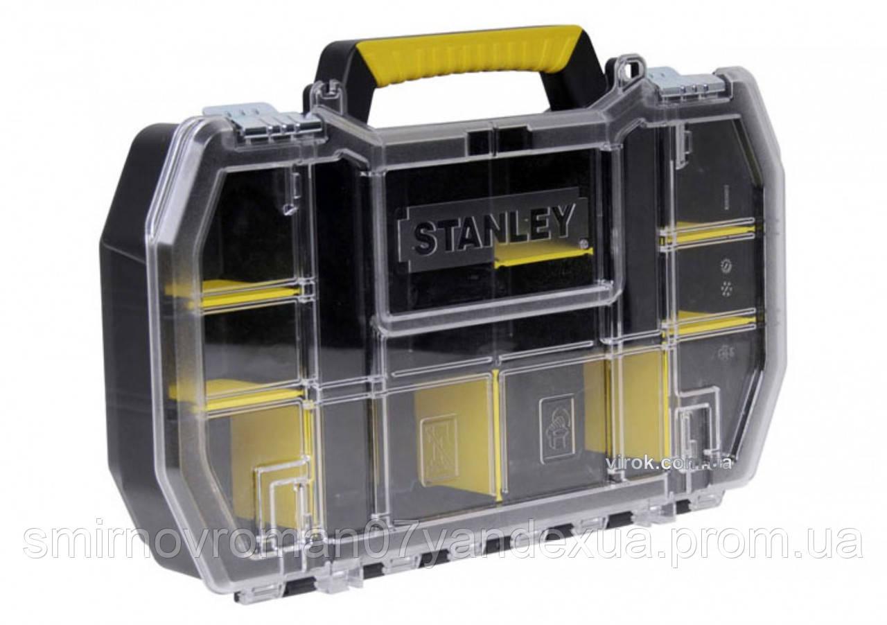 """Органайзер з металевими замками 19"""" STANLEY; 50 x 9,5 x 33 см"""