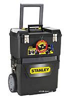 """Ящик STANLEY на колесах """"IML Mobile Work Center 2 in 1"""" пластмас. з органайзерами в кришці 47.3x30.2x62.7 см"""