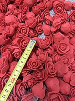 Бутон розы из фоамирана, диаметр 3-3,5 см КРАСНЫЙ (в упаковке 500шт), фото 2