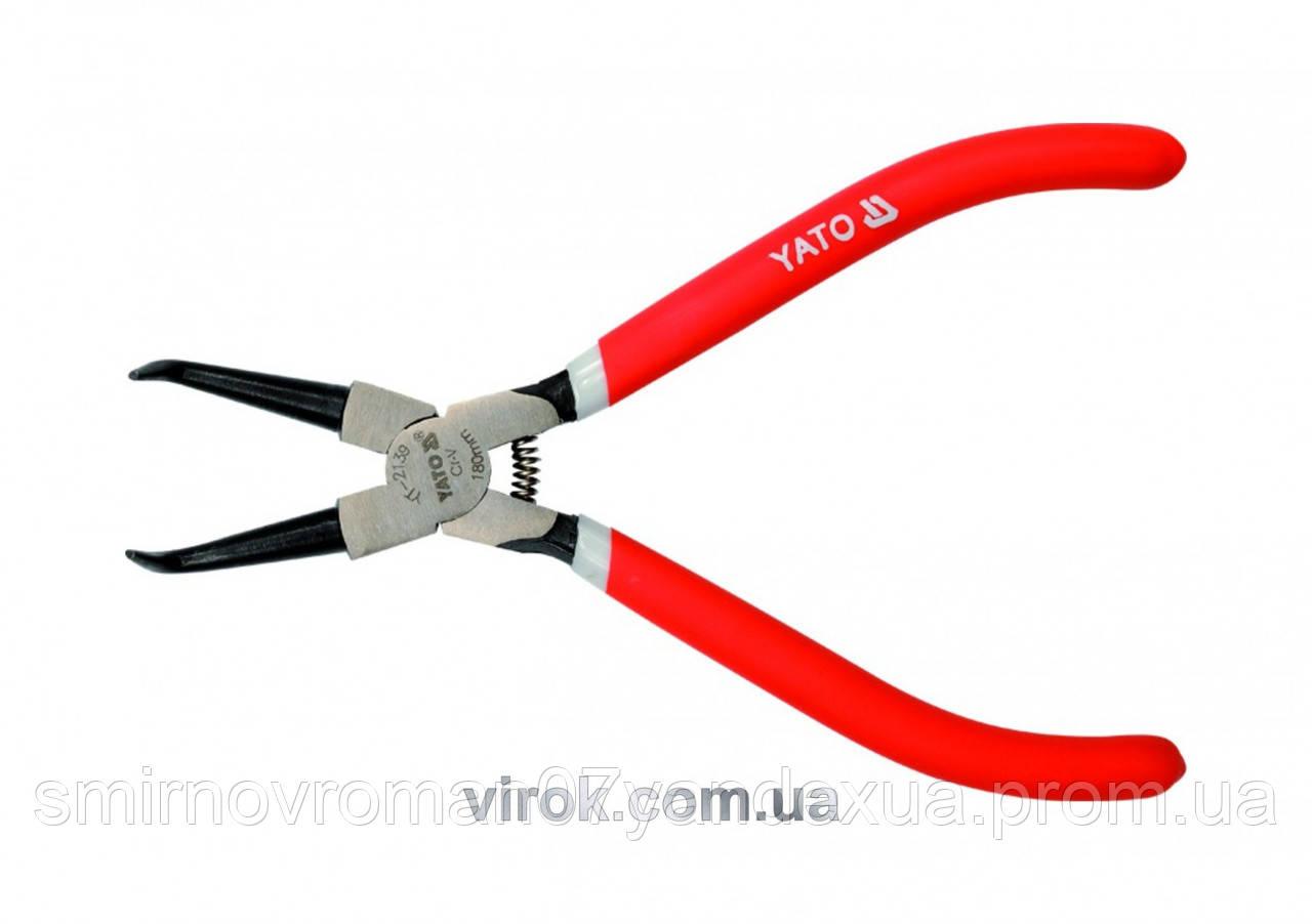 Съемник стопорных колец YATO изогнутый сжатие l=180 мм