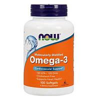 Омега-3 NOW Foods ОРИГИНАЛ! США 100 капсул Omega-3 Нау Фудс рыбий жир fish oil 180EPA/120DHA 100 капсул