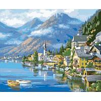 """Картина по номерам. Городской пейзаж """"Австрийский пейзаж"""" 40х50см KHO2143"""