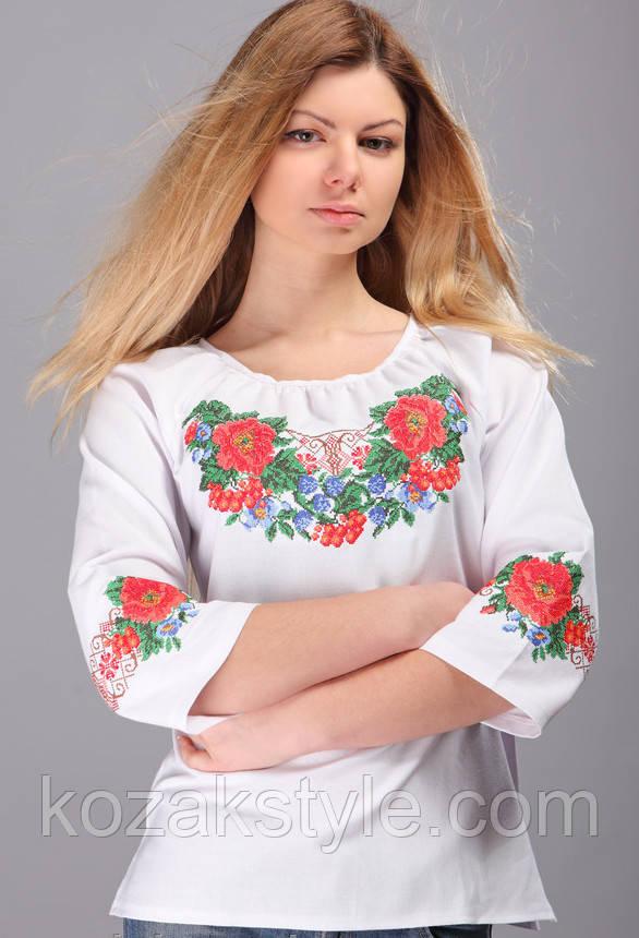 ... фото 3 Жіноча вишиванка біла